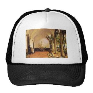 John Singer Sargent- Villa Torre Galli The Loggia Mesh Hats