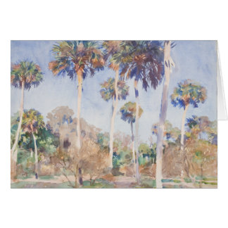 John Singer Sargent Watercolor - Palms Stationery Note Card