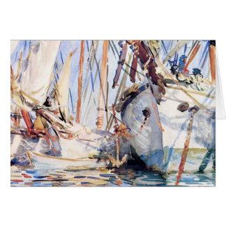 John Singer Sargent: White Ships Greeting Card