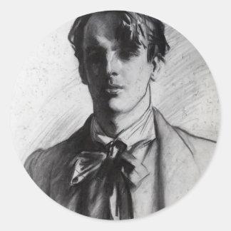 John Singer Sargent: William Butler Yeats Classic Round Sticker