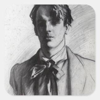 John Singer Sargent: William Butler Yeats Square Sticker