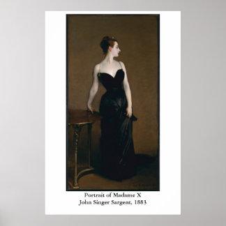 John Singer Sargent's Portrait of Madame X Poster