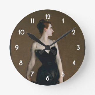 John Singer Sargent's Portrait of Madame X Round Clock