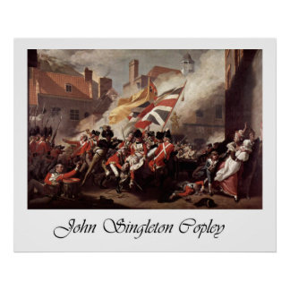 John Singleton Copley Battle Of Jersey Poster