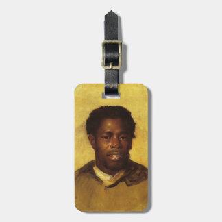 John Singleton Copley- Head of a Negro Bag Tag