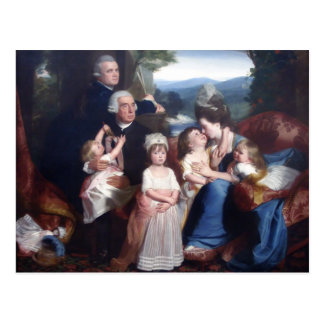 John Singleton Copley- Portrait of Familie Copley Postcard