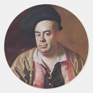 John Singleton Copley- Portrait of Nathaniel Hurd Classic Round Sticker
