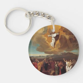 John Singleton Copley-  The Ascension Single-Sided Round Acrylic Keychain