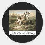 John Singleton Copley Watson and the Shark Round Stickers