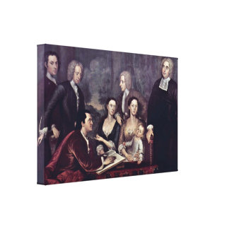 John Smybert - Dean Berkely and His Entourage Stretched Canvas Prints