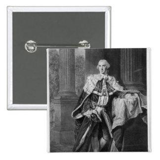 John Stuart, 3rd Earl of Bute, 1763 2 Inch Square Button