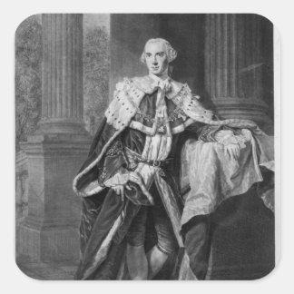 John Stuart, 3rd Earl of Bute, 1763 Square Sticker