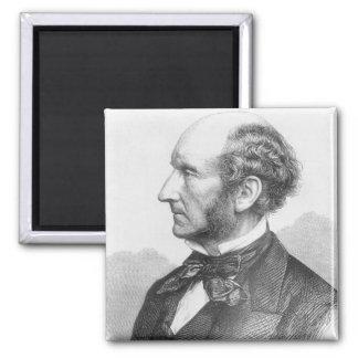 John Stuart Mill 2 Inch Square Magnet
