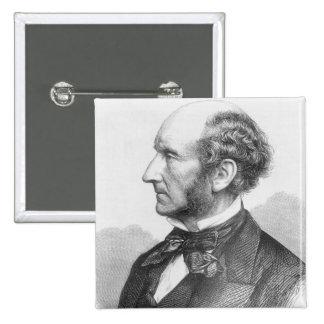 John Stuart Mill 2 Inch Square Button