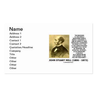 John Stuart Mill descubre al servicio del mundo Tarjetas De Visita