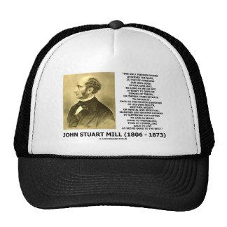 John Stuart Mill Freedom Pursuing Own Good Own Way Trucker Hat