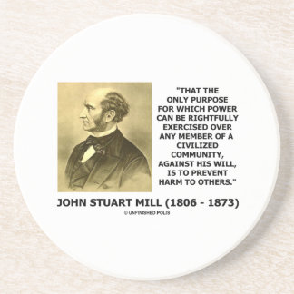 John Stuart Mill Prevent Harm To Others Quote Sandstone Coaster