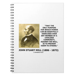John Stuart Mill previene daño a otros cita Libros De Apuntes