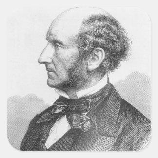 John Stuart Mill Square Sticker