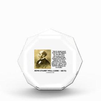 John Stuart Mill Truth Gains More Think Quote Acrylic Award
