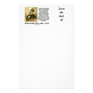 John Stuart Mill Truth Gains More Think Quote Stationery