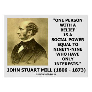 John Stuart Mill un poder del Social de la creenci Póster