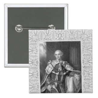 John Stuart, Third Earl of Bute, engraved 2 Inch Square Button