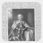 John Stuart, Third Earl of Bute, engraved Square Sticker