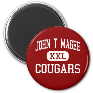 John T Magee - Cougars - Middle - Round Lake 2 Inch Round Magnet
