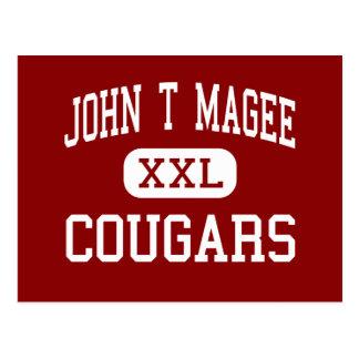 John T Magee - Cougars - Middle - Round Lake Postcard