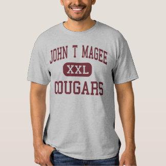 John T Magee - Cougars - Middle - Round Lake T-Shirt
