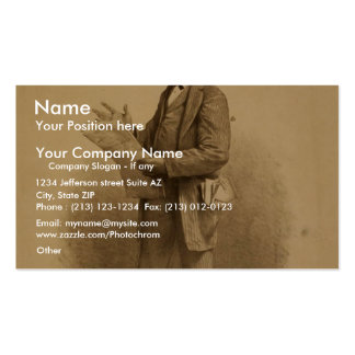 John T. Raymond as the insurance agent in Risks Business Card Templates