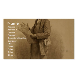 John T. Raymond as the insurance agent in Risks Business Card Template