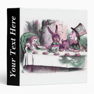 John Tenniel Alice's Mad Tea Party Pastels 3 Ring Binder