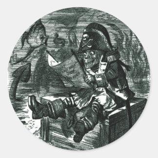 John Tenniel: Davy Jones Locker Classic Round Sticker