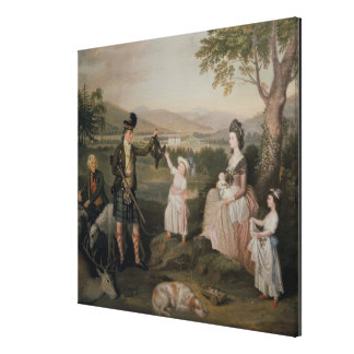 John, the 4th Duke of Atholl and his family Canvas Print