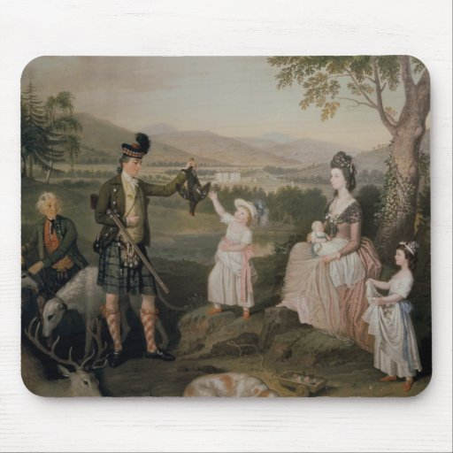 John, the 4th Duke of Atholl and his family Mouse Pads