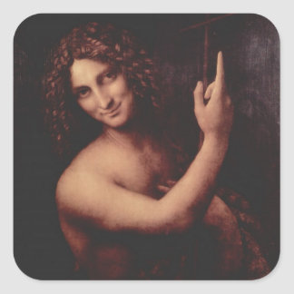 John the Baptist (1513 to 1516) Square Sticker