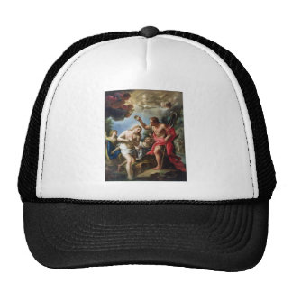 John-the-Baptist-baptizing-Christ-by-Trevisani Trucker Hat