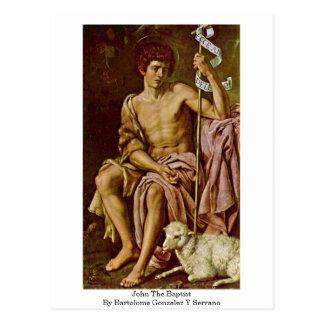 John The Baptist By Bartolome Gonzalez Y Serrano Post Card