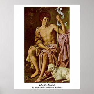 John The Baptist By Bartolome Gonzalez Y Serrano Poster
