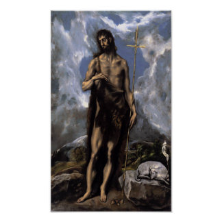 John the Baptist by El Greco Poster
