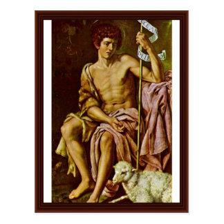 John The Baptist By González Y Serrano Bartolomé Post Card
