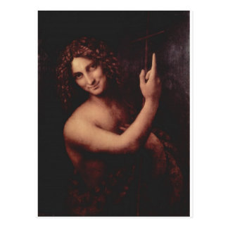 John the Baptist by Leonardo Da Vinci c. 1513-1516 Postcard