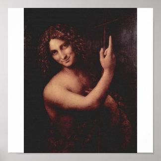John the Baptist by Leonardo Da Vinci c. 1513-1516 Poster