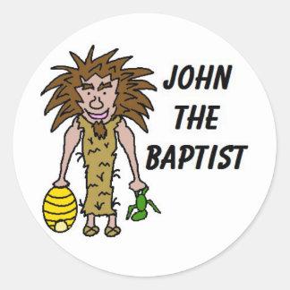 John The Baptist Clipart Classic Round Sticker