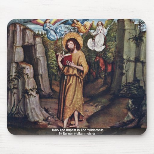 John The Baptist In The Wilderness Mouse Pad