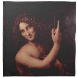 John the Baptist - Leonardo Da Vinci (1513-1516) Cloth Napkin