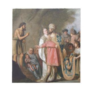 John the Baptist Preaching Notepad