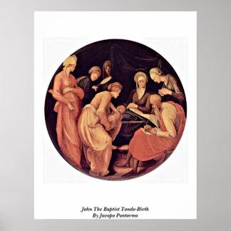 John The Baptist Tondo-Birth By Jacopo Pontormo Posters